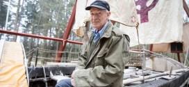 Tim Severin reunited with Brendan boat