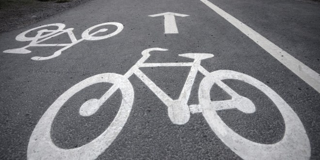 Ennis cycle lane starts on Quin Road