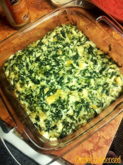 Copycat Applebee's Spinach Artichoke Dip by Clarks Condensed