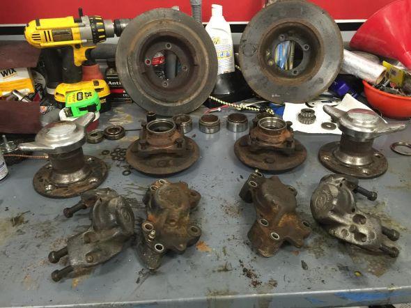 TR6 front brakes, etc