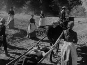 1950 rio grande john wayne and maureen o'hara wounded