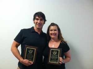 Eric Lewis & Heather Wygant at their final Board Meeting (6/14/14)