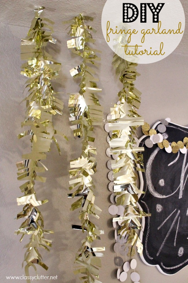 DIY Fringe Garland Tutorial