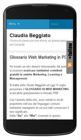 mobile friendly claudia beggiato