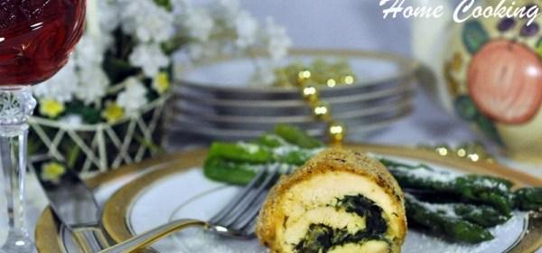 Chicken Spinach  Roll