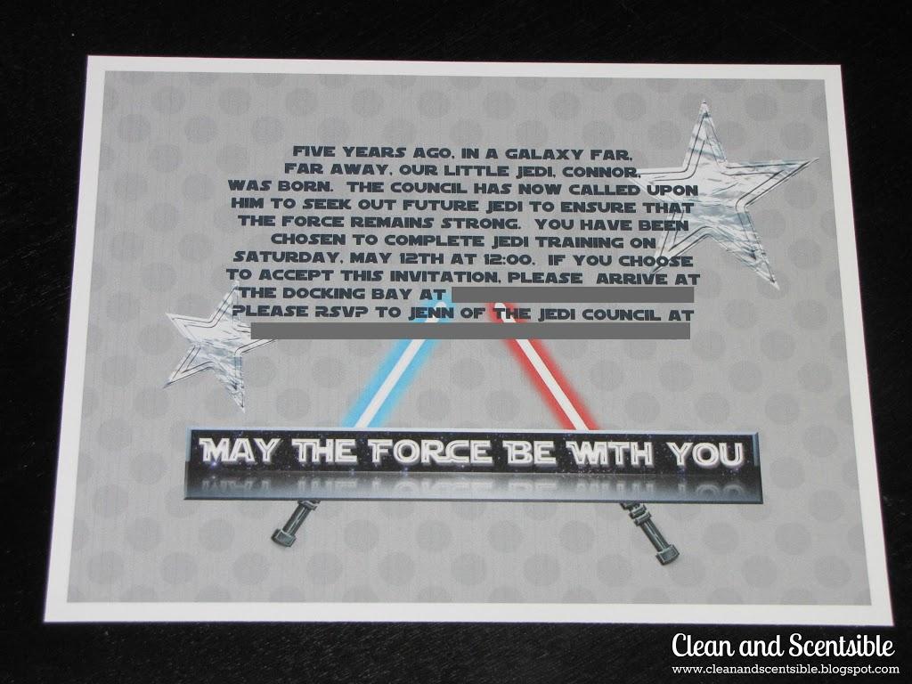 Snazzy Scentsible Star Wars Invitations Diy Star Wars Invitations Free Printable Star Wars Invitations Clean baby Star Wars Invitations