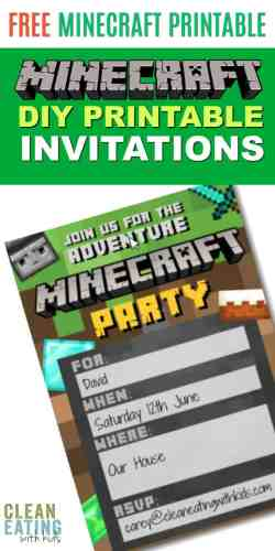 Small Of Minecraft Birthday Invitations