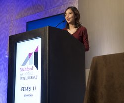 Professor Fei-Fei Li of Stanford  (Photo by Beck Diefenbach)