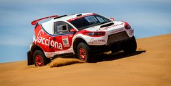 Last October, the Acciona EV competed in and finished the 2,255-mile International OiLibya Rally of Morocco.