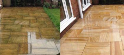 Indian sandstone cleaning in Liverpool
