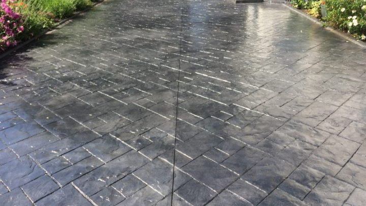 Imprinted concrete cleaning Liverpool