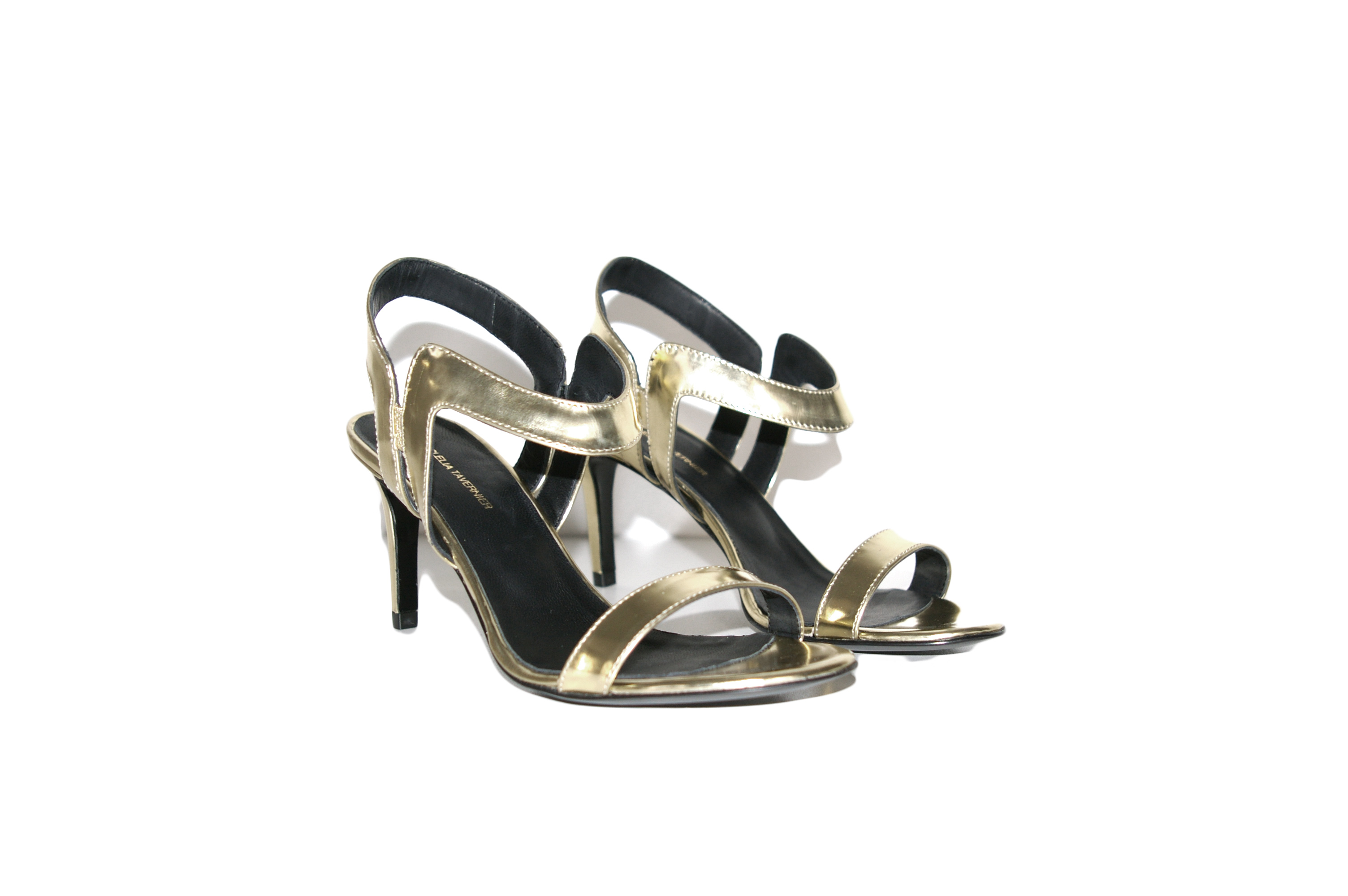 Clelia Tavernier: Dora Gold 75 | Shoes,Shoes > Sandals -  Hiphunters Shop