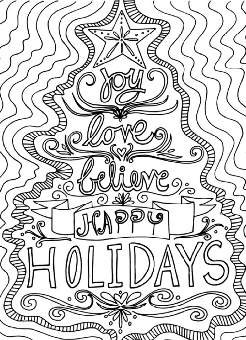 22 Christmas Coloring Books to
