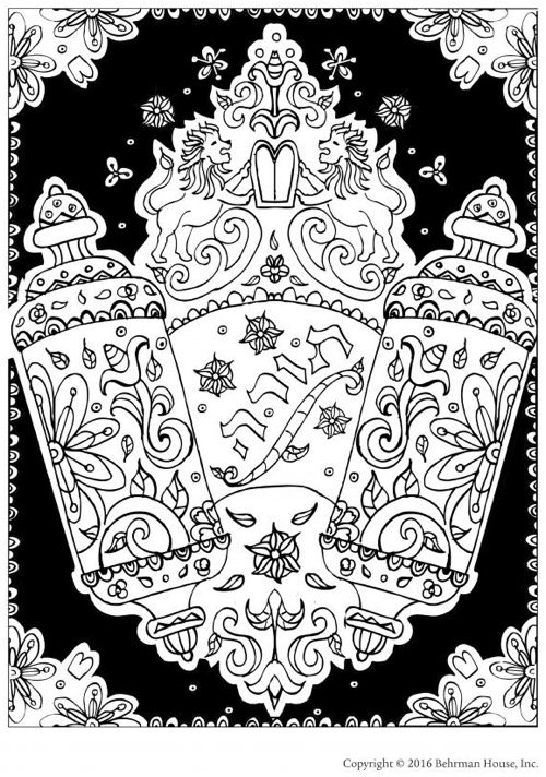 Jewish Coloring Pages For Adults : Christmas coloring books to set the holiday mood
