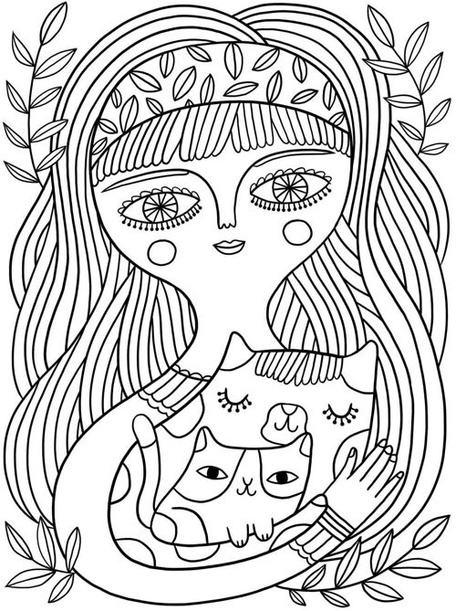 Best Coloring Books For Cat Lovers on Color The Stars 5 Coloring Page