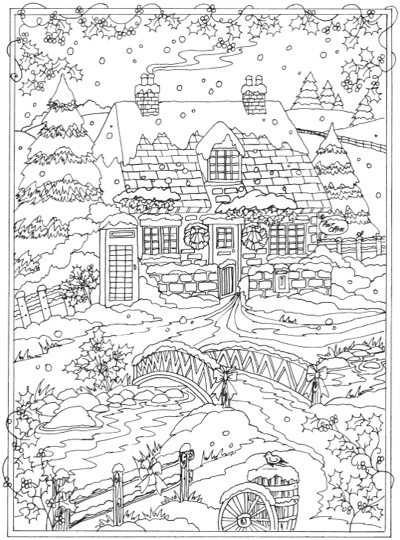 22 christmas coloring books to set the holiday mood for Winter holiday coloring pages