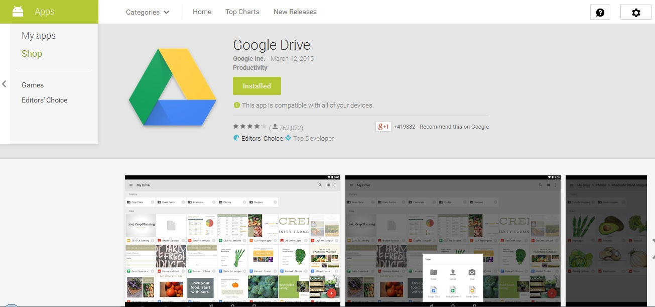 how to download files from google drive to android phone