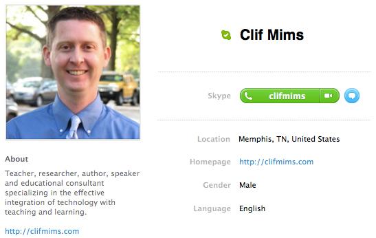 Skype Clif Mims
