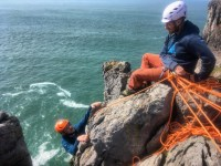 The new Rock Climbing Instructor award assessment in Pembrokeshire