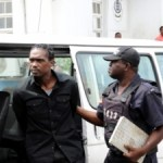 Busy Signal being taken into custody