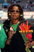 Olivia McKoy representing Jamaica