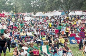 Section of the large turn-out for the Jamaican Jerk Festival 2013!