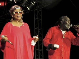 Marcia Griffiths & Freddie McGregor on stage