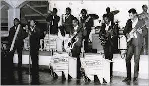 Boris Gardiner at right on bass in 1960's