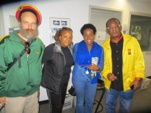 L-R Uwe Banton, Sharon Gordon, Etana & Ken Boothe