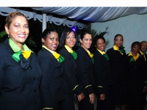 Hostesses of Fly Jamaica