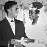 Bob Marley & Rita Anderson getting married in 1966