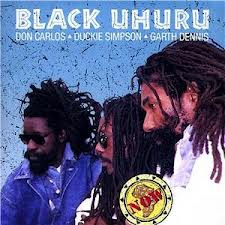 Black Uhuru: L-R Dukie Simpson, Garth Dennis, Don Carlos