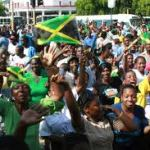 Jamaicans in Half-Way-Tree Square, Kingston