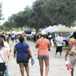 Patrons checking out the various stalls @ the 14th Annual Grace Jamaican Jerk Fest in Markham Park