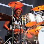 Sly Dunbar on drums