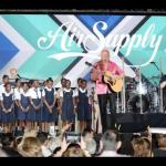 Students join Air Supply on stage