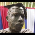 the first bust of Marcus Garvey