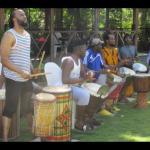 Drummers performing