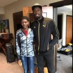 Merlene Ottey and Usain Bolt share lens time