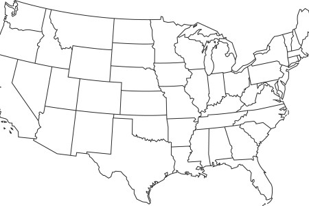 blank map of usa clipart best