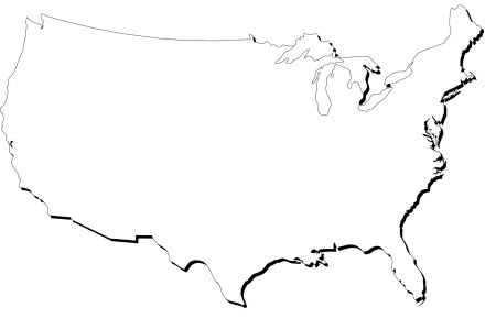 blank map of united states clipart best