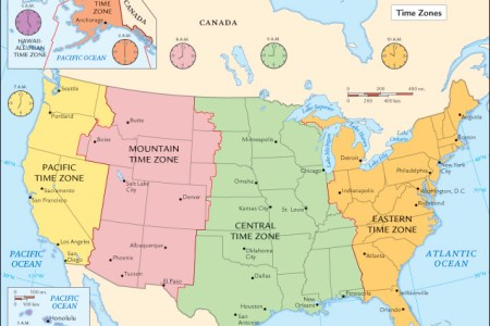 north america time zone map printable