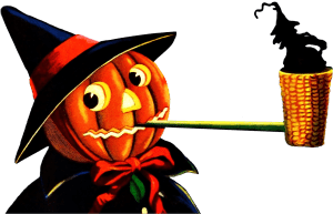 Jack-o-Lantern Pipe Clipart with a Transparent background