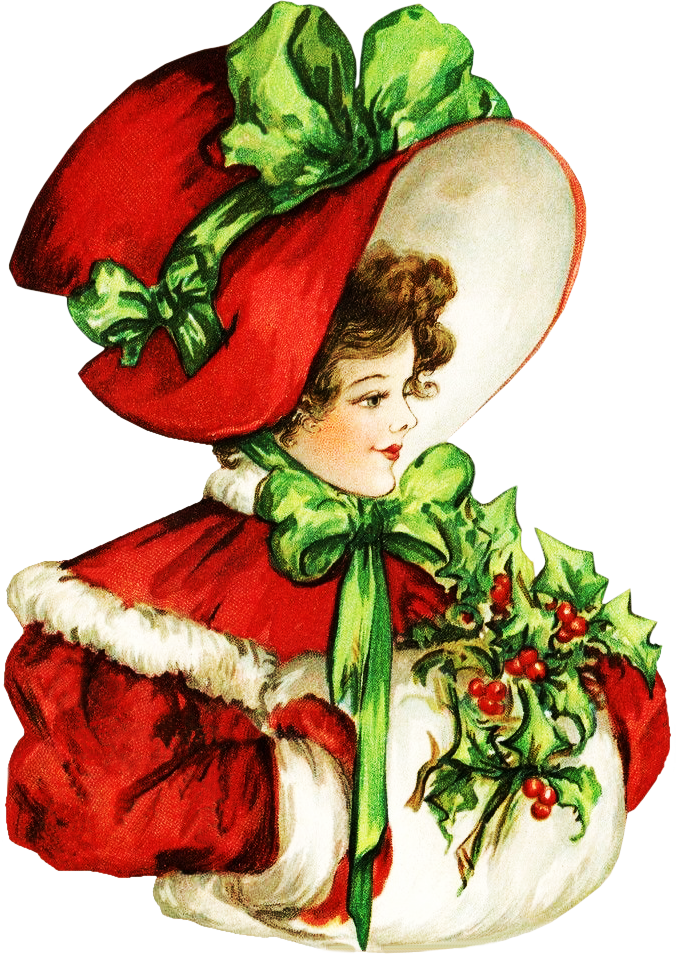 Victorian Christmas Beauty Clipart