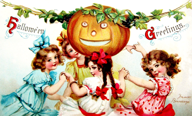 Vintage Halloween Celebration Clipart