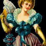 Free Victorian Woman Purse Clipart