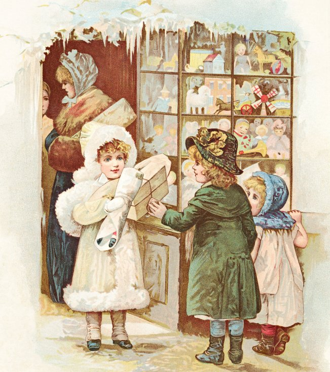 Victorian Christmas Graphic