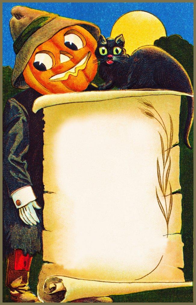 Vintage Pumpkin Scroll