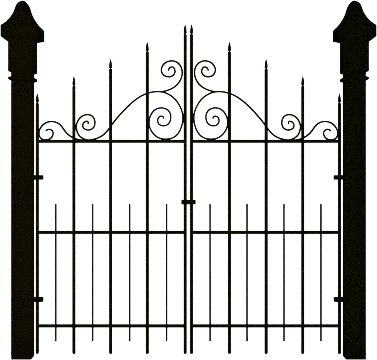 Spooky gate clipart