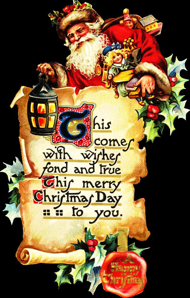 Santa Claus Scrolls Clipart
